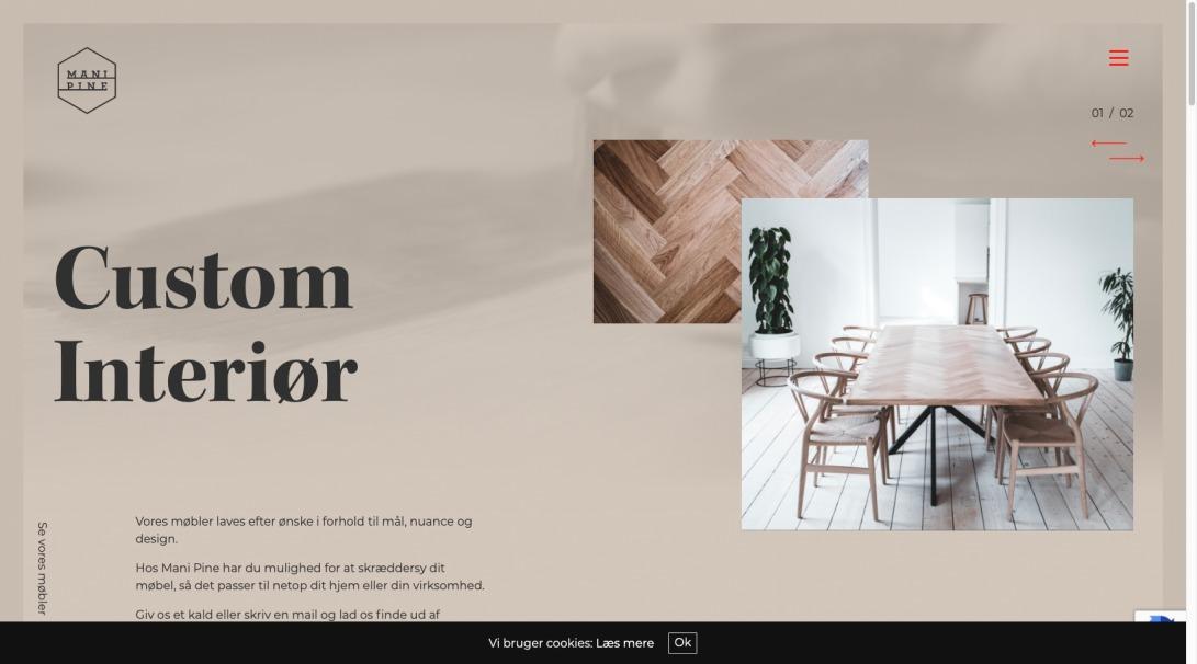 MANI PINE - Custom møbler og interiør til private og virksomheder