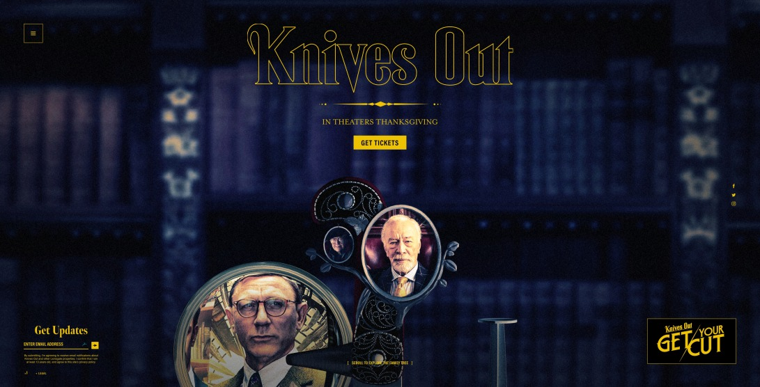 Knives Out – Official Movie Site - In Theaters November 27, 2019
