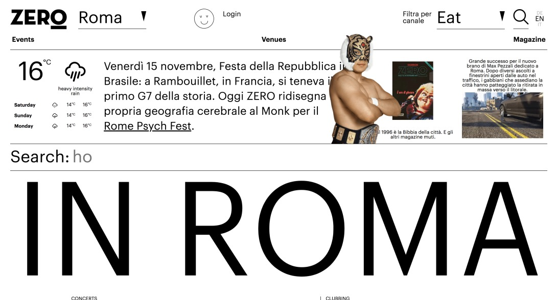 Reviews of things to do, restaurants, bars and events at Roma | Zero