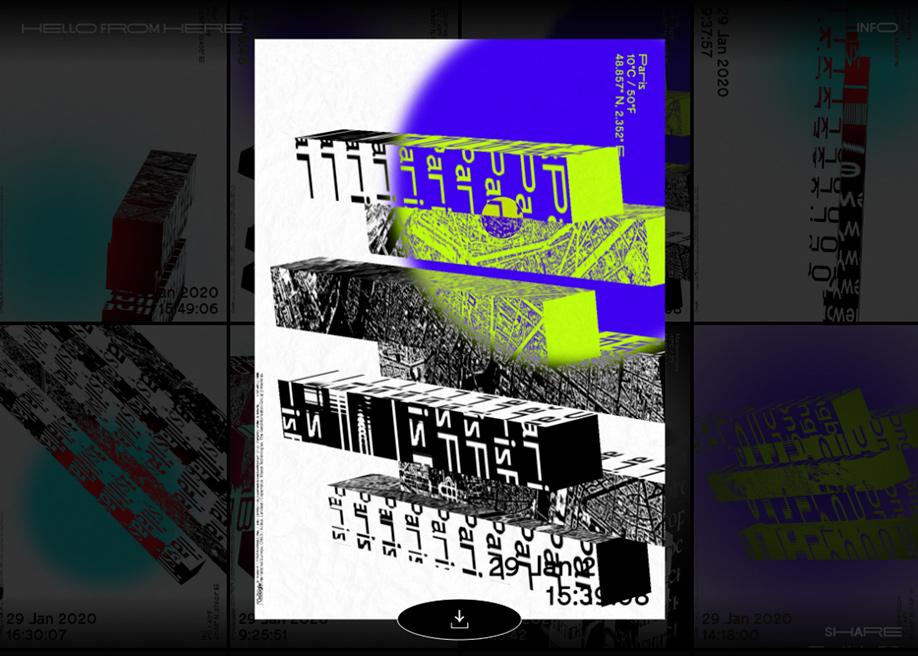Poster generator slideshow - Hello from Here