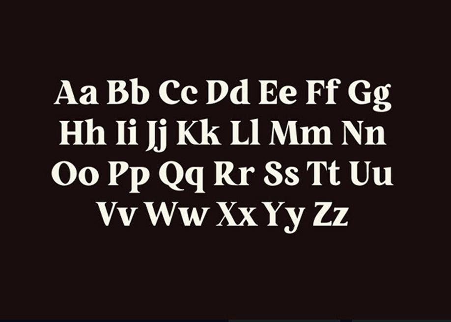 Restora - old style serif font