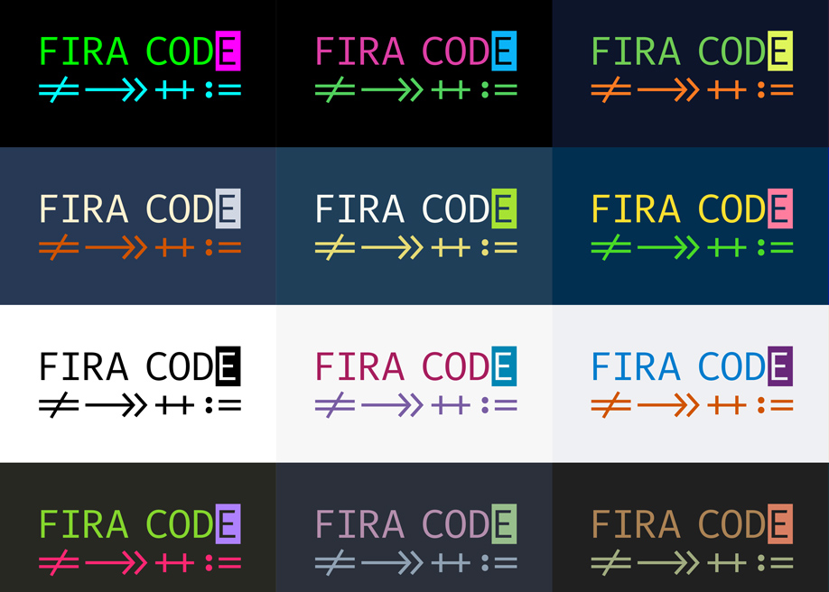 5 Monospaced Fonts With Cool Coding Ligatures