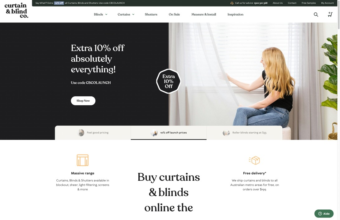 Buy Curtains & Blinds Online | Custom Made - Free Delivery in Australia