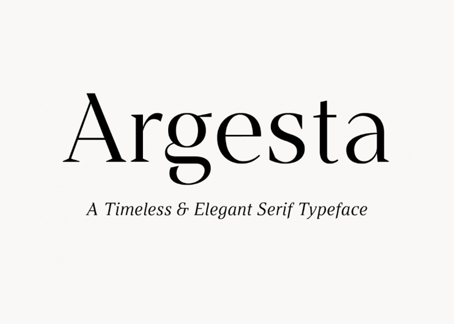 Argesta Hairline with cool discretionary ligatures.