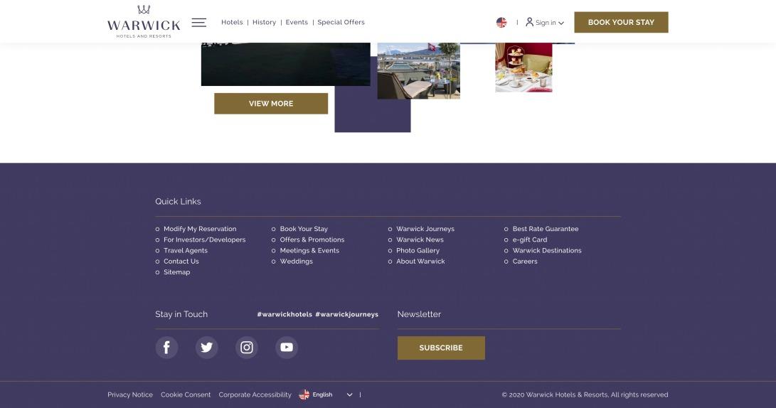 Warwick Hotels & Resorts | Luxury Hotels & Resorts Worldwide