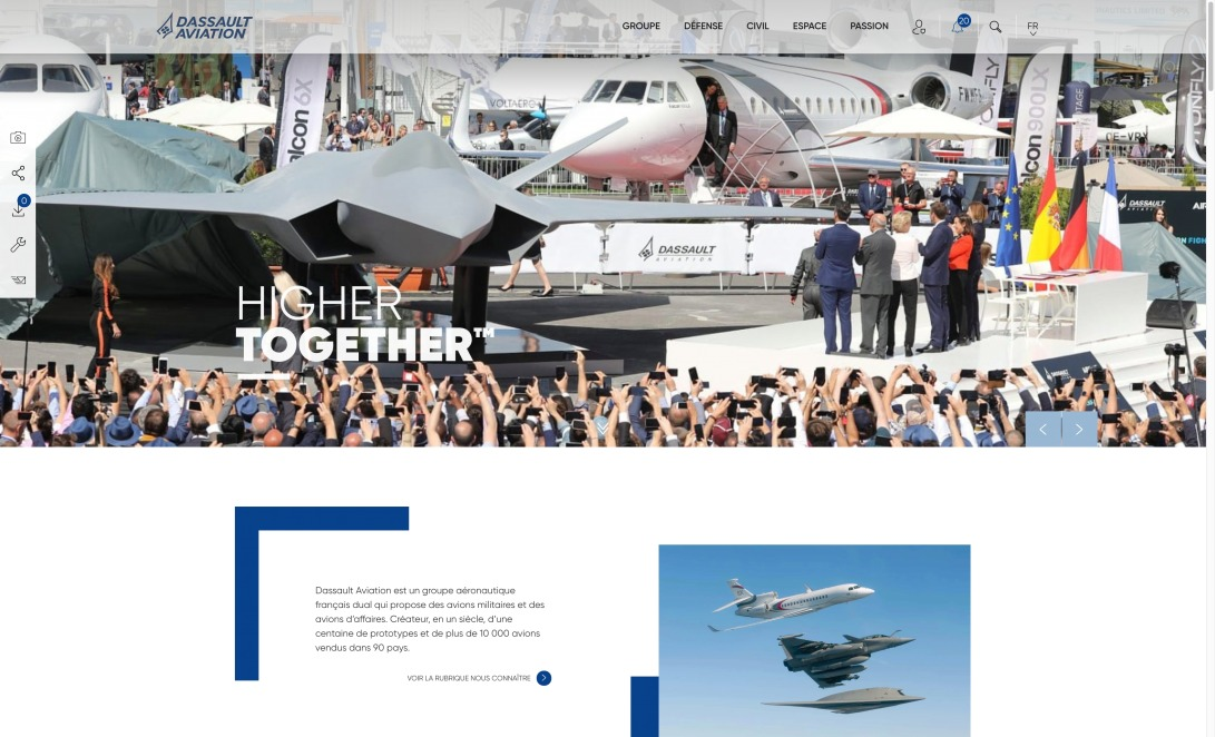 Dassault Aviation, acteur majeur de l'aéronautique