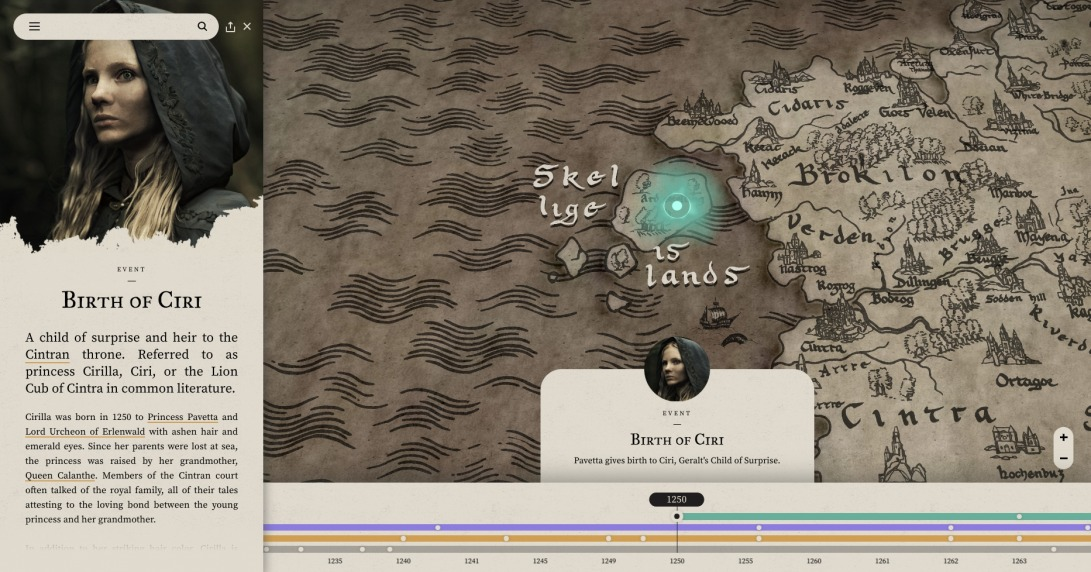 Netflix | The Witcher | Map of the Continent