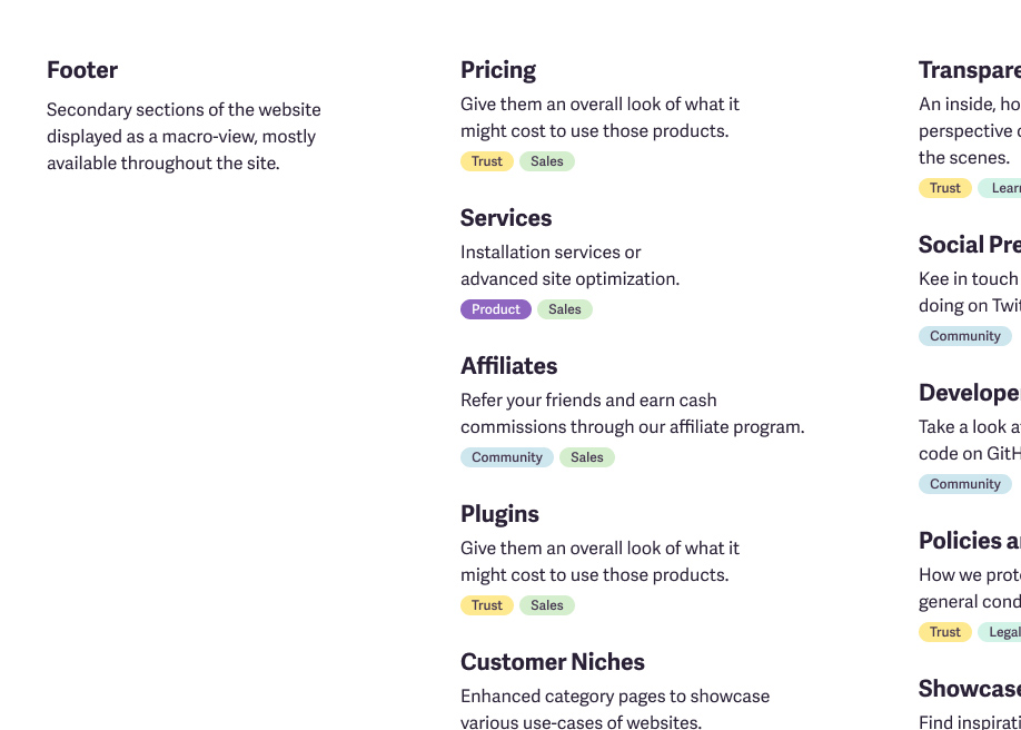 How to design your site footer