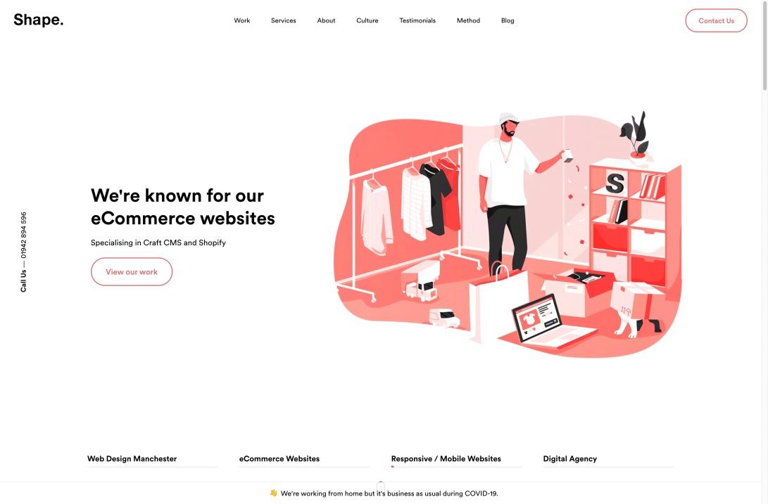 Web Design Manchester   Digital Agency   MadeByShape