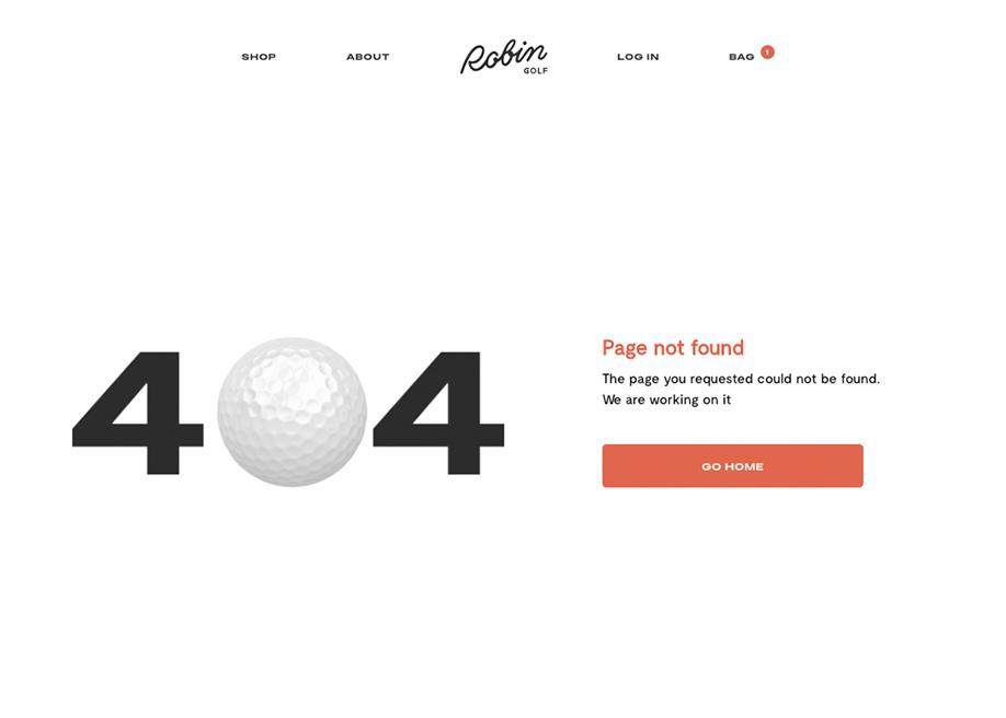 404 error page - Robin Golf