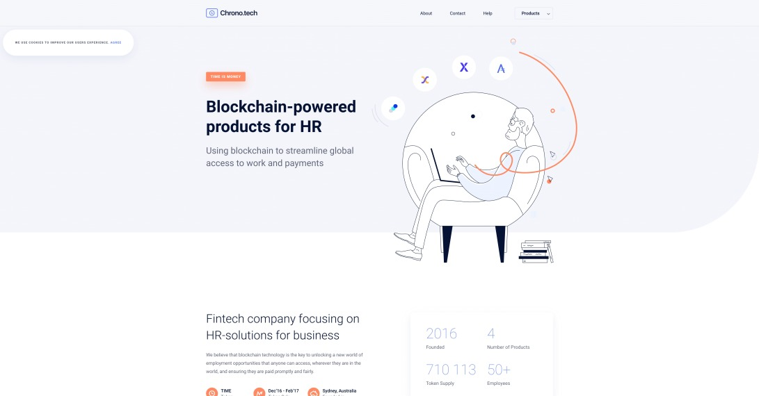 Blockchain-powered products for HR | Chrono.tech