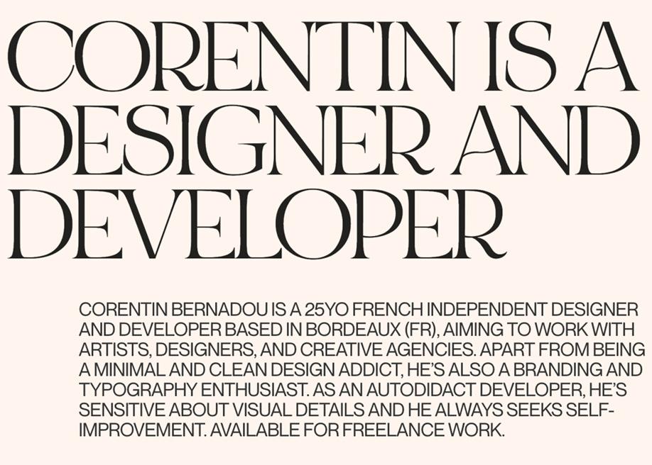 Typographic Layout - Corentin Bernadou