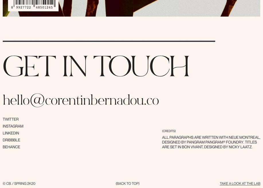 Footer design - Corentin Bernadou