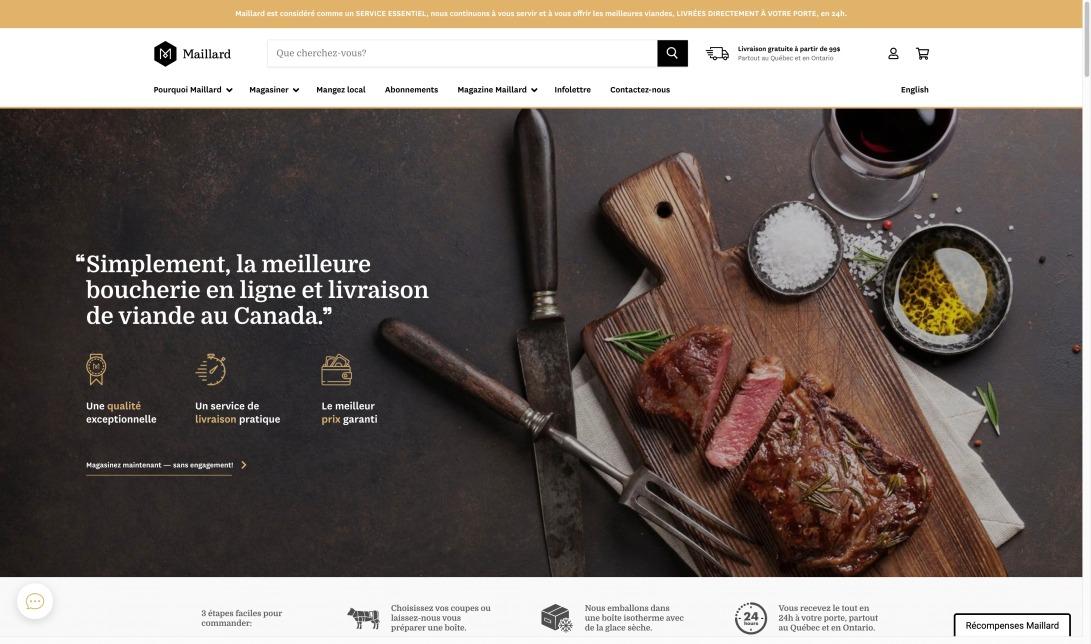 Boucherie en ligne offrant des viandes de qualité supérieure livrées à domicile | Maillard.co
