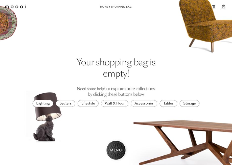Empty shopping bag - Moooi