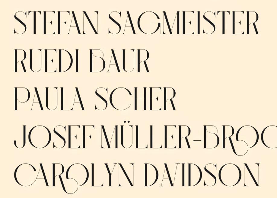 Bigilla: A display serif typeface with ligatures and alternates