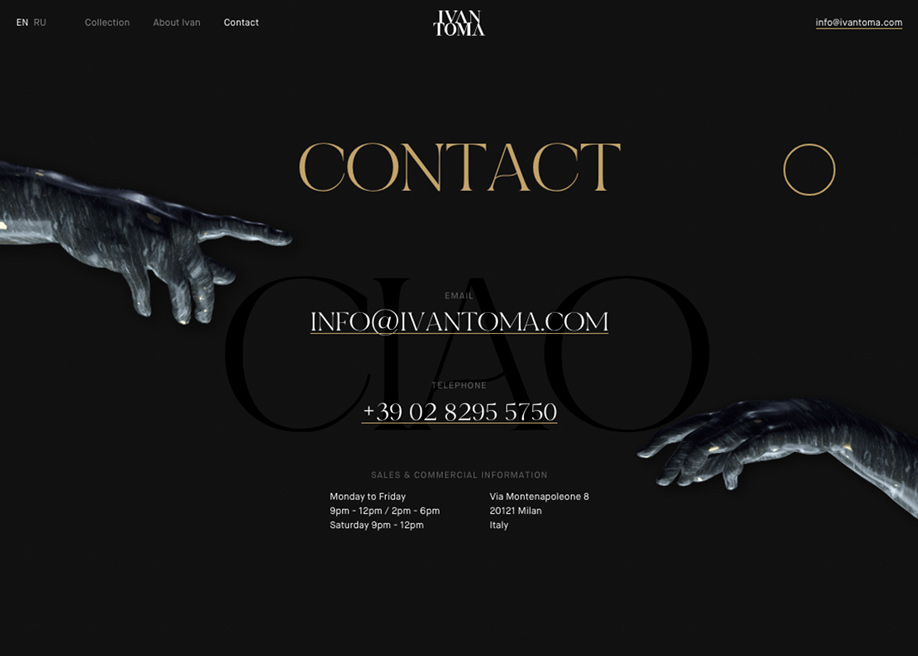 Contact page - Ivan Toma