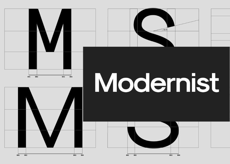 SK-Modernist: A Geometric Avant Garde like typeface