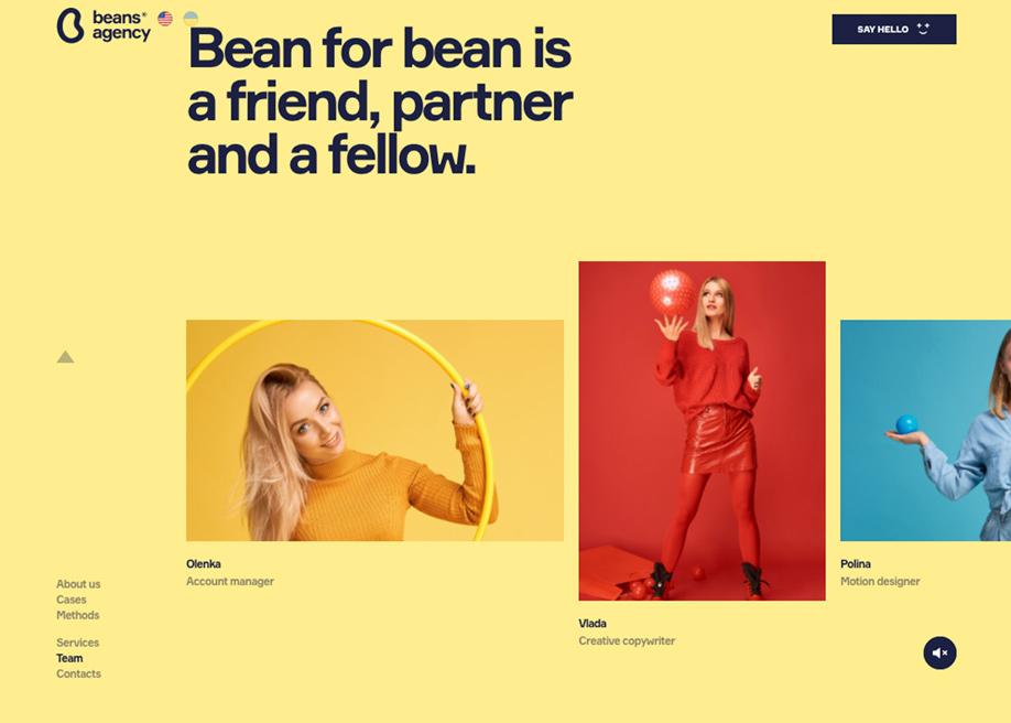 Beans digital marketing agency - Team page