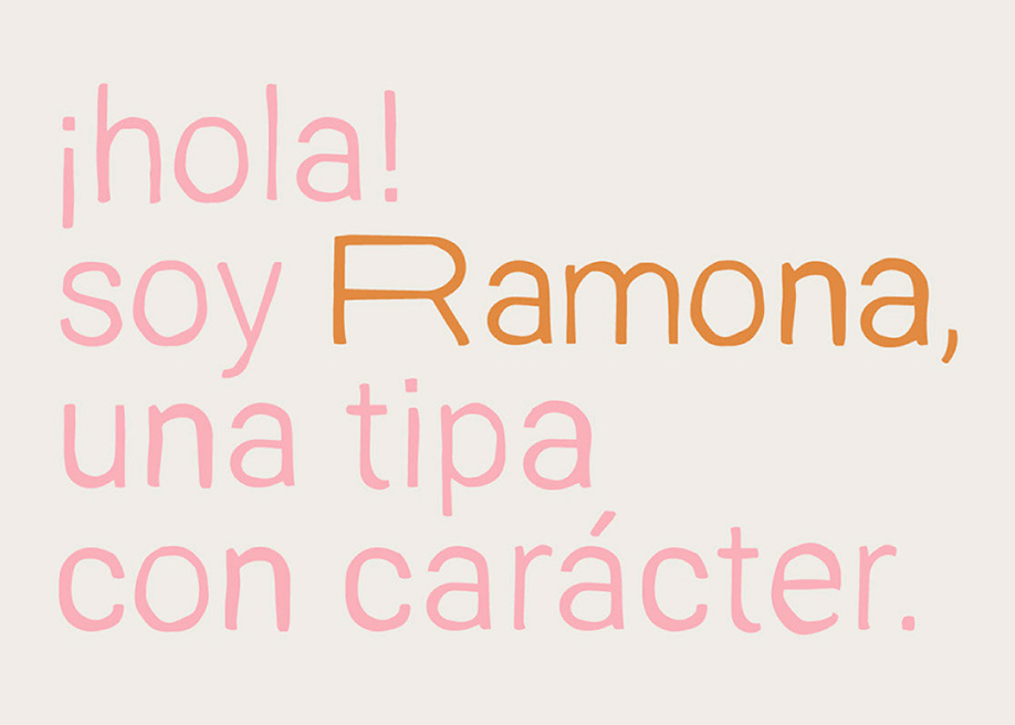 Ramona free display font