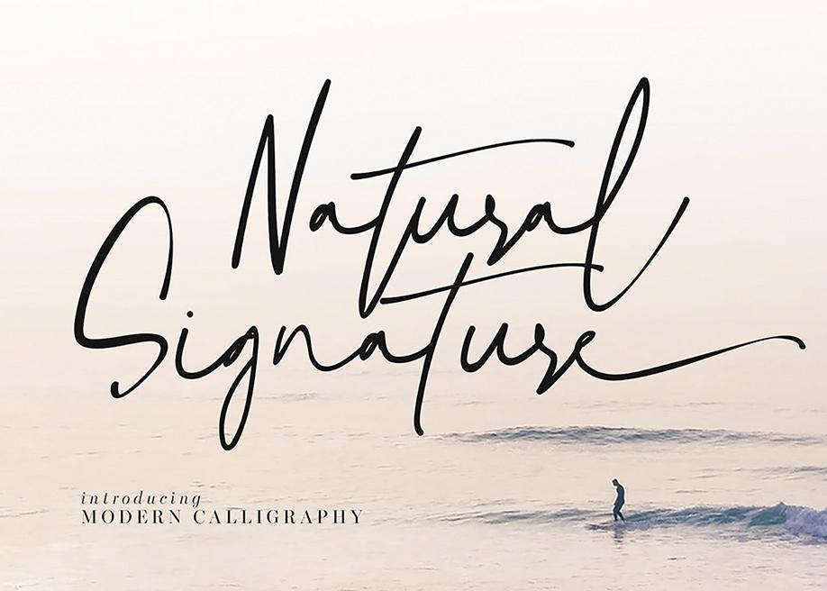 Natural Signature free font