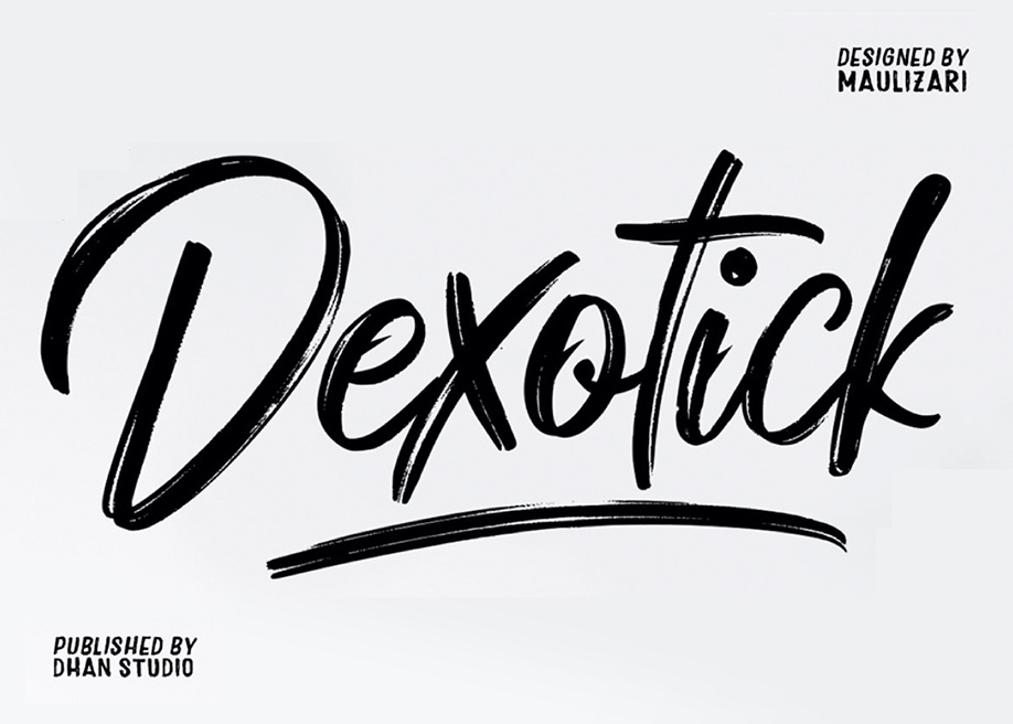 Dexotick free brush font