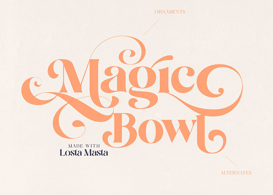 Losta Masta playful serif family