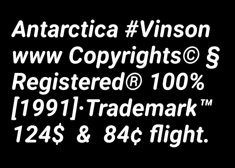 Vinson free font