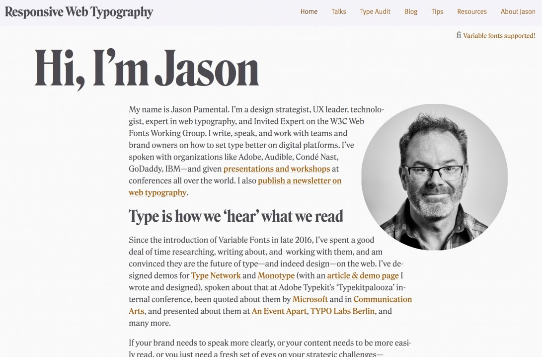 Hi, I'm Jason | Responsive Web Typography