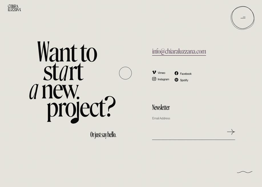 Contact page - Chiara Luzzana sound designer