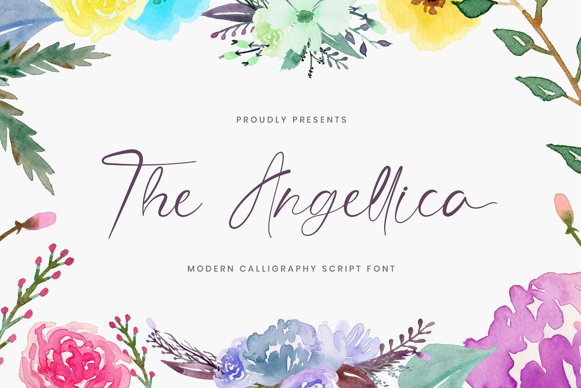 Angellica calligraphy font