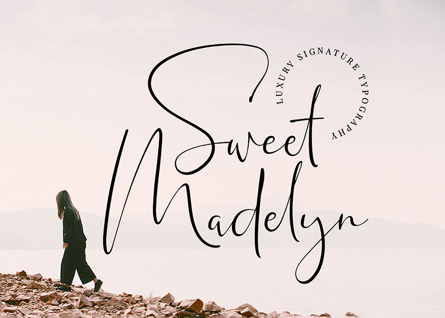 Sweet Madelyn signature font