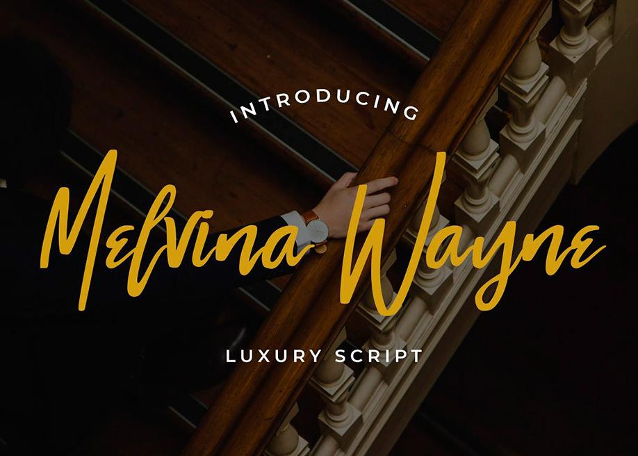 Melvina Wayne Script Font