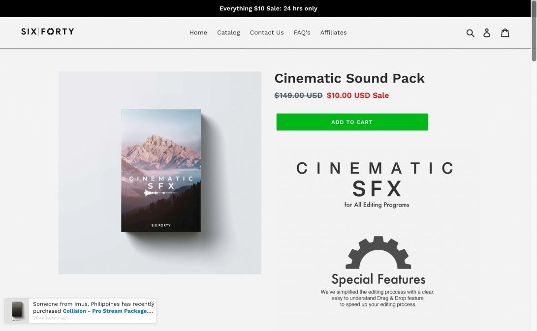 Cinematic Sound Pack – 640 Studio