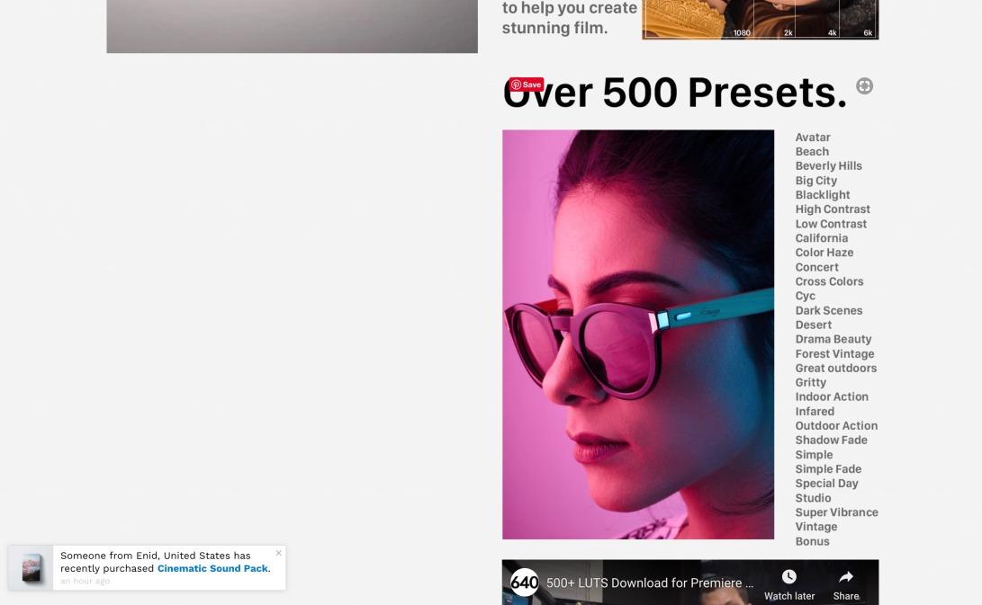540+ Cinematic LUTS Pack! – 640 Studio