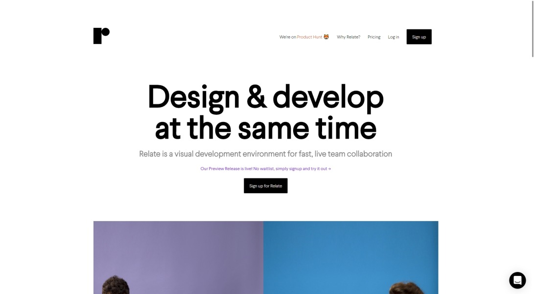 Relate - Design and develop at the same time