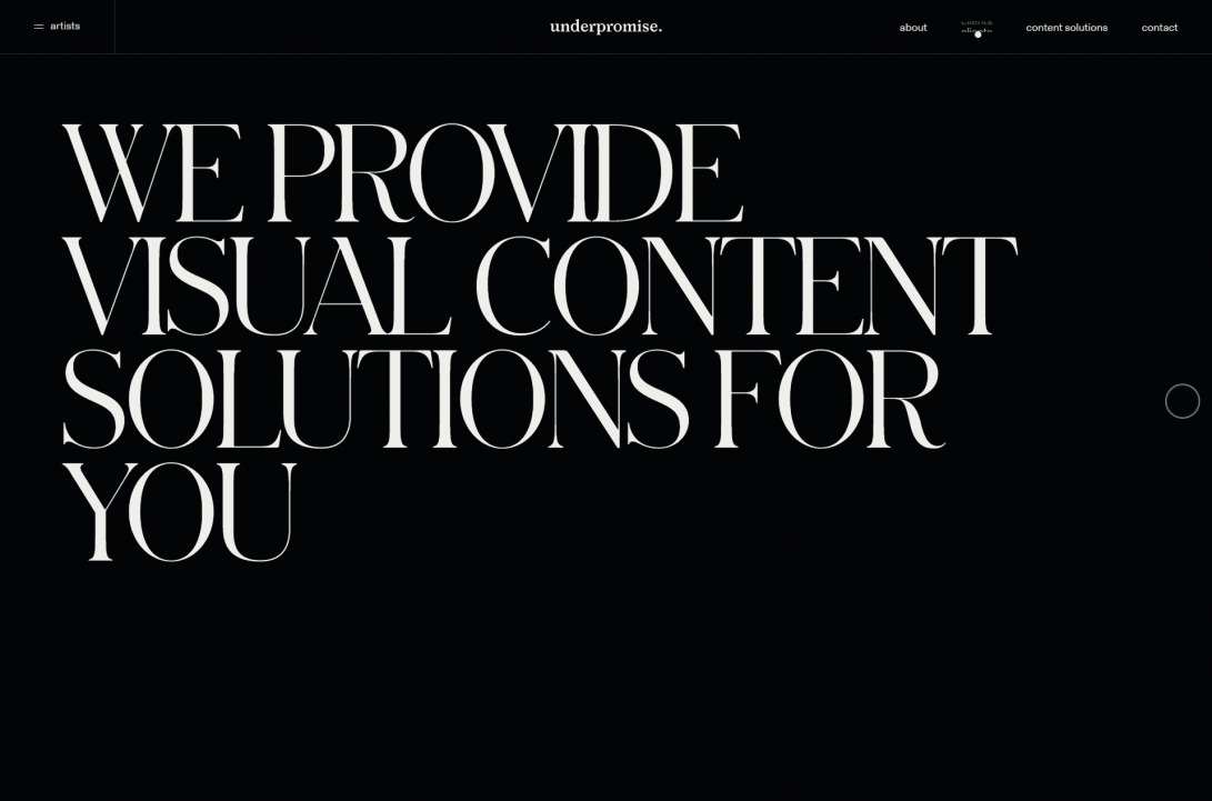 Underpromise - We are a visual content agency