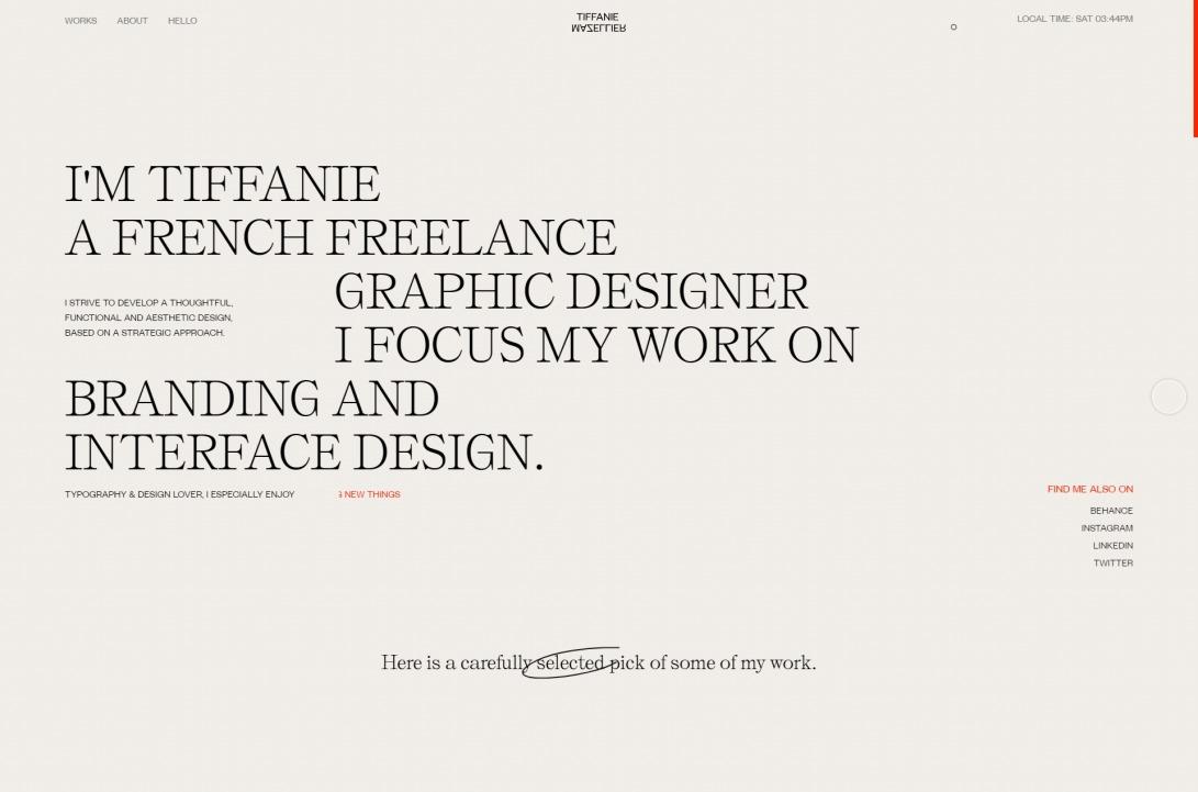 Graphic and Interface designer — Tiffanie Mazellier