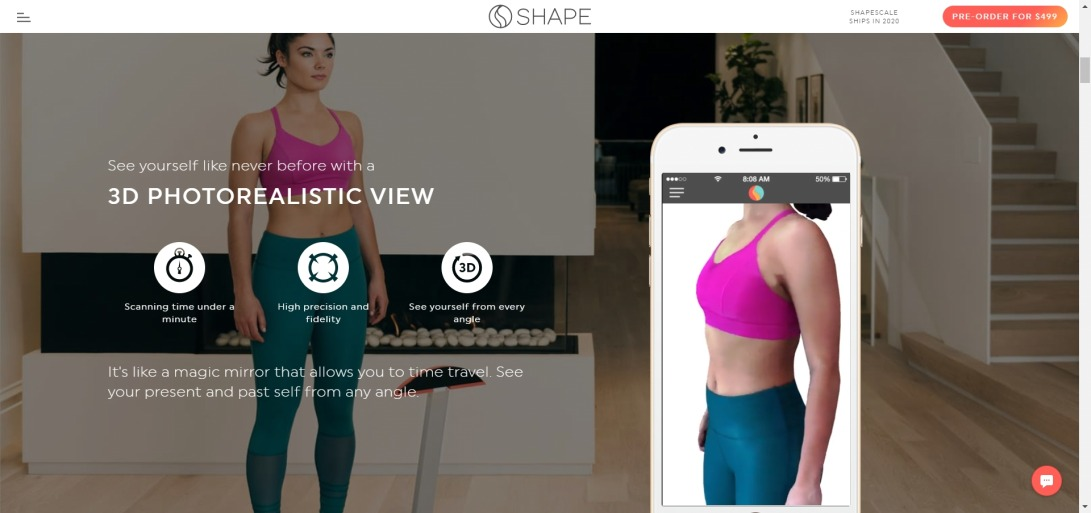 ShapeScale ® — 3D Body Scanner · Scale · Fitness Tracker