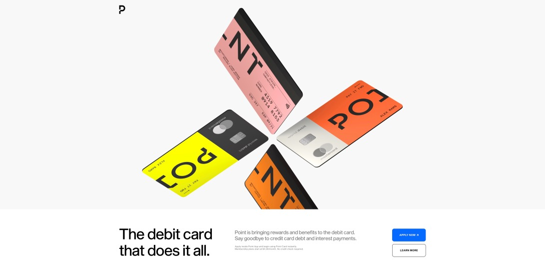 Point — the do it all debit card.
