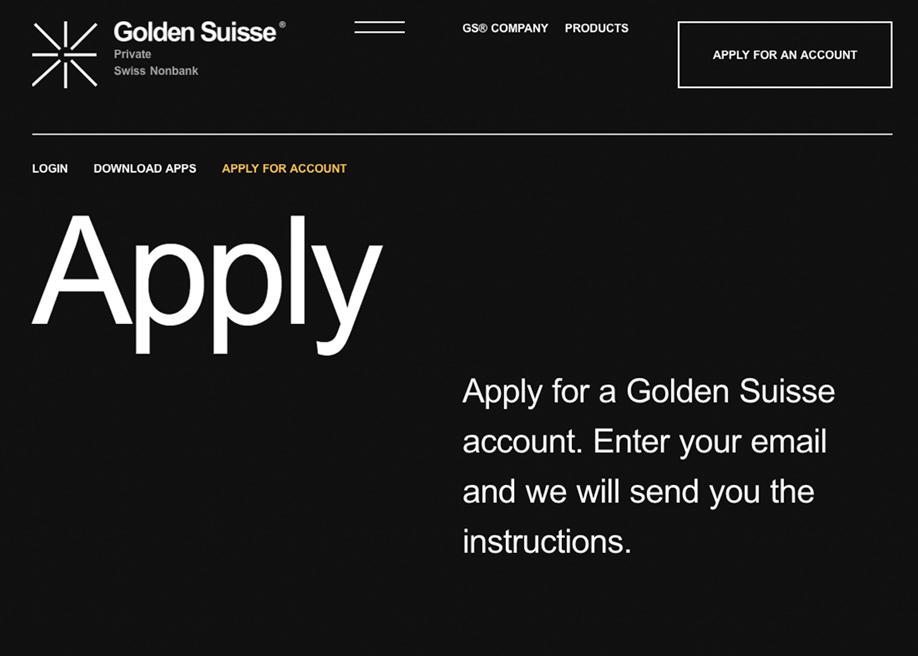 Typography design composition - Golden Suisse