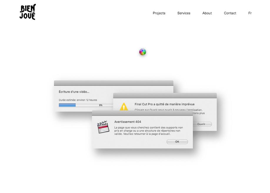 Retro 404 error page - Bien Joue