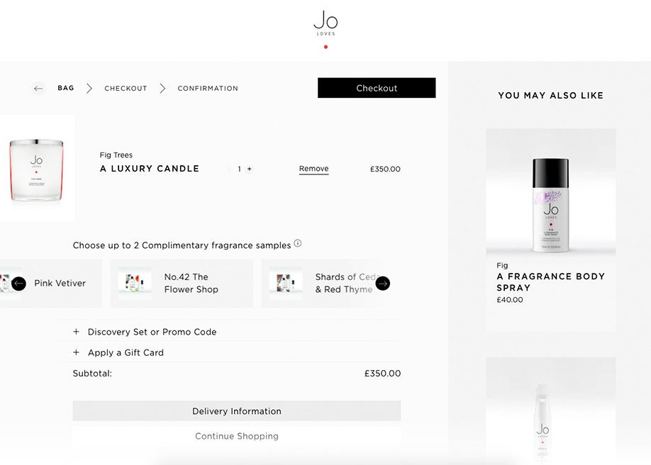 Jo Loves - Shopping cart details