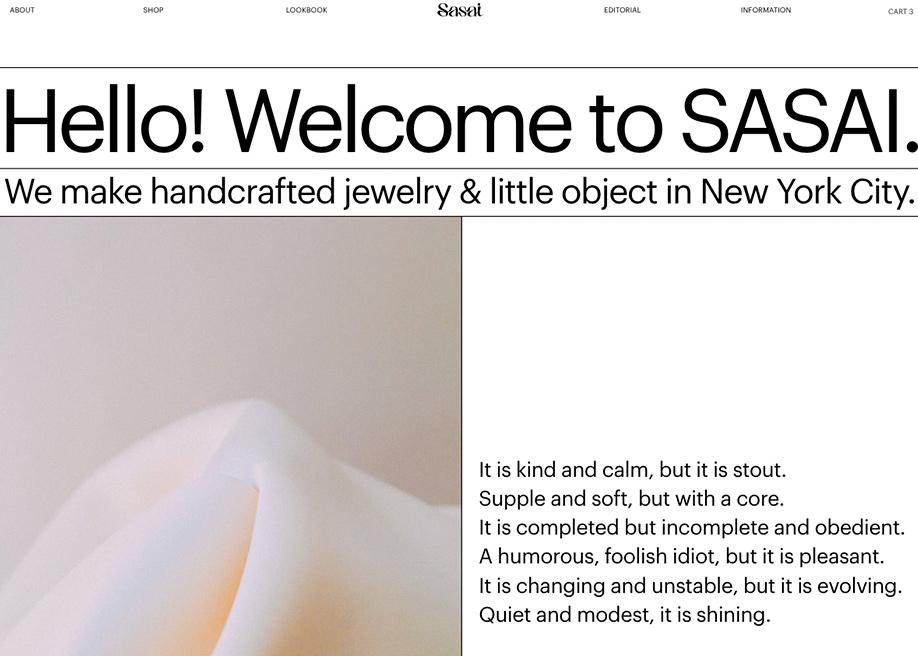 About page - Sasai Jewelry