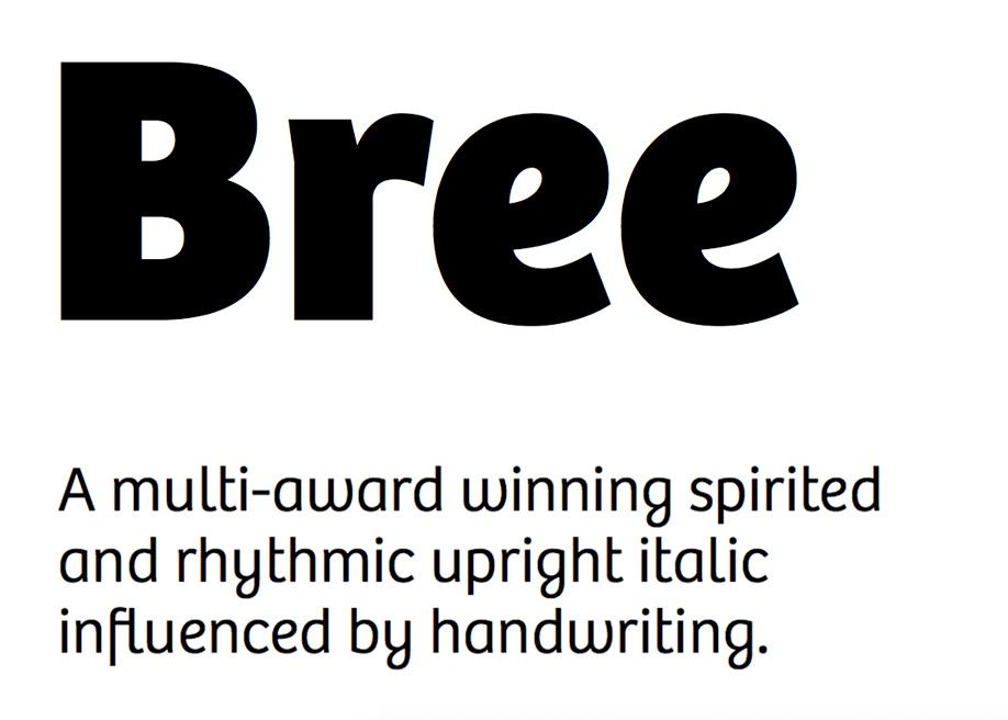 Bree font family