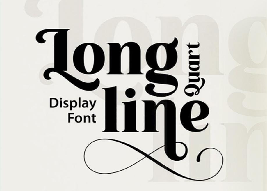 Longline Quart display font