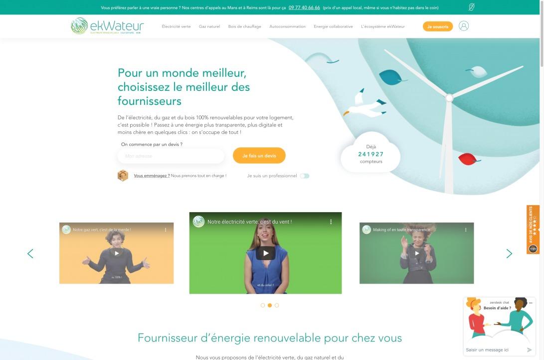 ekWateur : fournisseur d'énergie verte et renouvelable