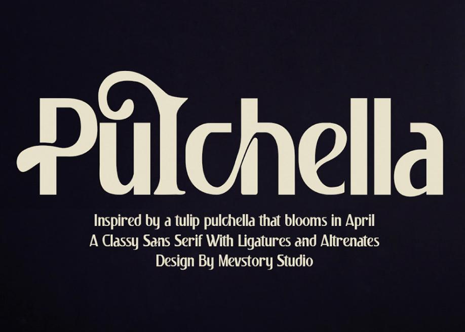 Pulchella free font
