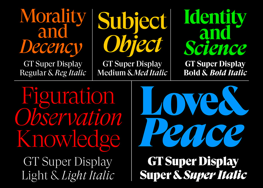 GT Super display serif typeface