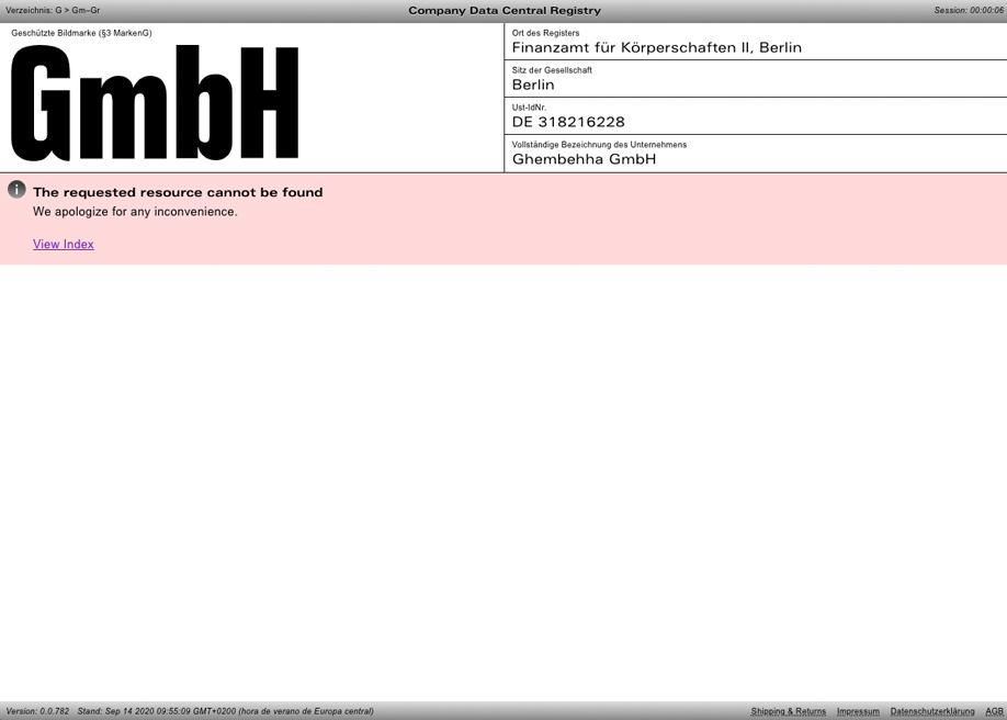 404 error page - GmbH